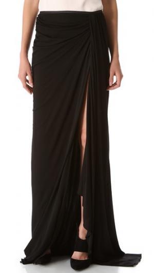 Длинная драпированная юбка Jay Ahr. Цвет: голубой