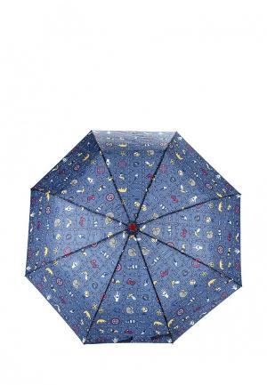 Зонт складной Mango. Цвет: синий
