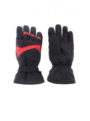 Перчатки Baon. Цвет: красный, черный