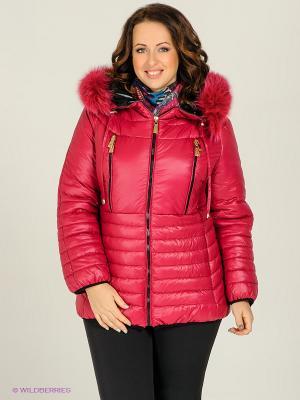 Куртка Alisa Line. Цвет: темно-красный
