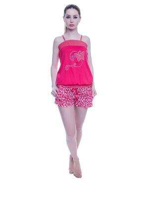 Пижама NICOLETTA. Цвет: красный
