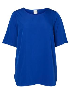 Блузка JUNAROSE. Цвет: темно-синий