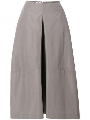 Укороченные брюки клеш Jil Sander. Цвет: серый
