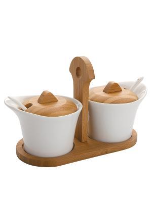 Sauce and confiture set / Набор для соусов и конфитюров DEKOK. Цвет: белый