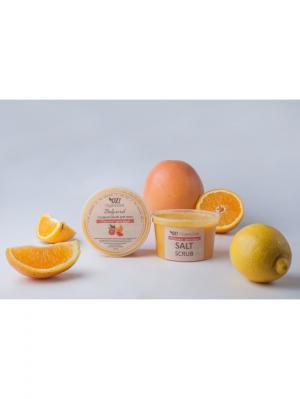 Соляной скраб для тела Красный грейпфрут OrganicZone. Цвет: бледно-розовый