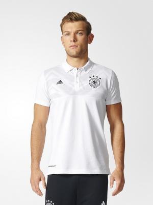 Футболка-поло Adidas. Цвет: белый, черный