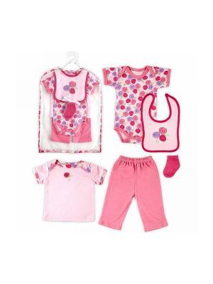 Комплект Hudson Baby. Цвет: розовый