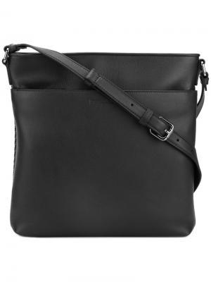 Квадратная сумка на плечо Ermenegildo Zegna. Цвет: коричневый