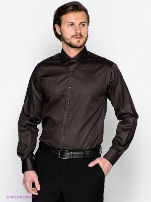 Рубашка Donatto. Цвет: темно-коричневый