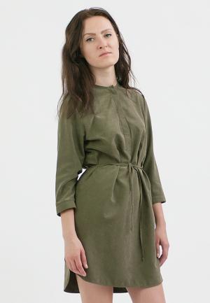 Платье Monoroom. Цвет: хаки