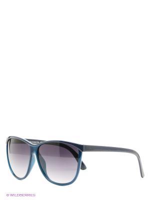 Солнцезащитные очки United Colors of Benetton. Цвет: синий, черный