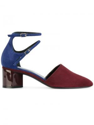 Туфли двумя ремешками Pierre Hardy. Цвет: розовый и фиолетовый