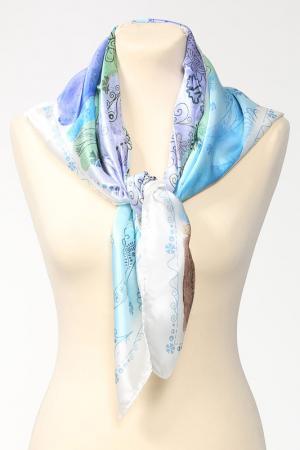 Платок Laura Biagiotti. Цвет: белый, голубой, зеленый