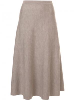 Расклешенная юбка миди Gabriela Hearst. Цвет: коричневый