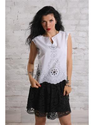 Блузка SUGARLIFE. Цвет: белый
