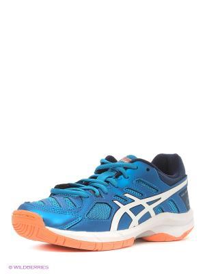 Спортивная обувь GEL-BEYOND 5 GS ASICS. Цвет: синий, белый, оранжевый