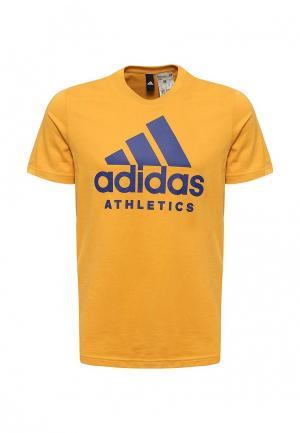 Футболка adidas Performance. Цвет: желтый