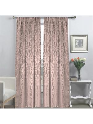 Комплект штор Amore Mio 145*270 см*2 шт розовый. Цвет: розовый