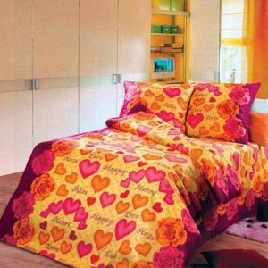 Постельное белье Арт Постель. Цвет: желтый (осн.), розовый