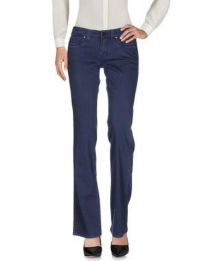 Повседневные брюки S.O.S by ORZA STUDIO. Цвет: темно-синий