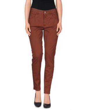 Повседневные брюки NELL&ME. Цвет: ржаво-коричневый