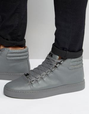 Glorious Gangsta Высокие кроссовки Paris. Цвет: серый