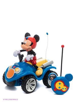 Радиоуправляемый квадроцикл+фигурка Mickey Mouse на батареках, TM Disney IMC toys. Цвет: синий, красный