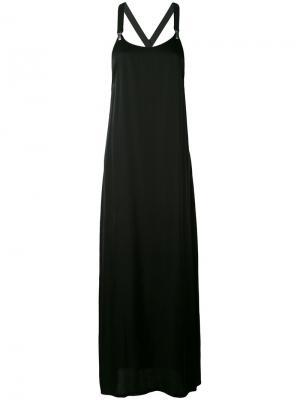 Платье с бретельками в стиле комбинезона Damir Doma. Цвет: чёрный