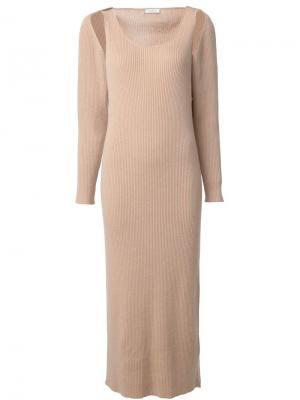 Bolero tank maxi dress Ryan Roche. Цвет: телесный