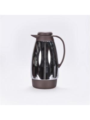 Термос пластиковый серый. 1,0л. со стеклянной колбой ,Tiger Tiger corporation. Цвет: серый