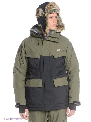 Куртка Animal. Цвет: оливковый