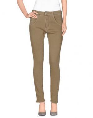 Повседневные брюки RA-RE. Цвет: хаки