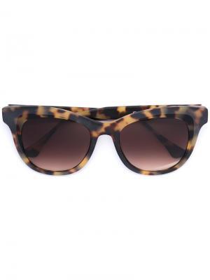 Солнцезащитные очки в квадратной оправе Thierry Lasry. Цвет: телесный