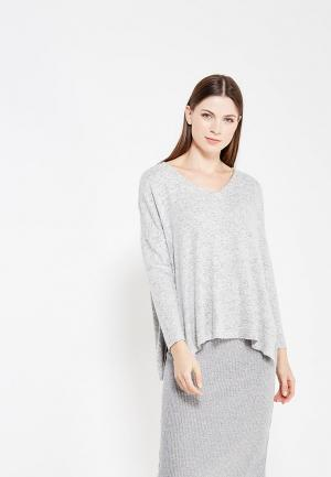 Пуловер Only. Цвет: серый