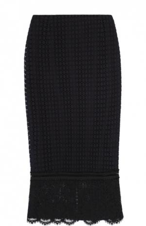 Кружевная юбка-годе Dorothee Schumacher. Цвет: синий