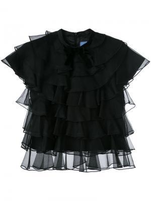 Блузка Bon Macgraw. Цвет: чёрный
