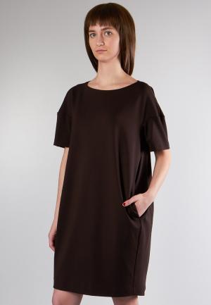 Платье Marina Rimer. Цвет: коричневый