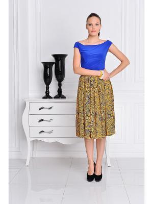 Платье Katerina Bleska&Tamara Savin. Цвет: синий, желтый