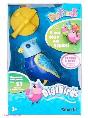 Птичка с  кольцом, синяя голубой головой Silverlit. Цвет: голубой, синий