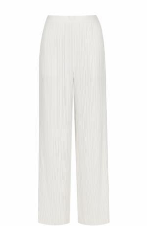 Плиссированные брюки прямого кроя Helmut Lang. Цвет: бежевый