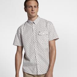 Мужская рубашка с коротким рукавом Hurley Brooks Nike. Цвет: коричневый