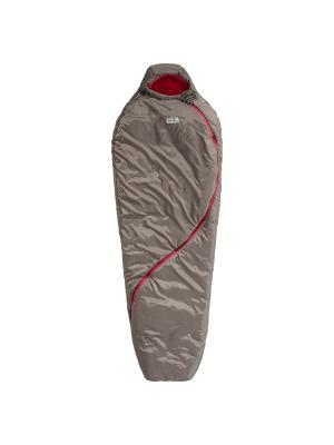 Спальный мешок SMOOZIP -7 WOMEN Jack Wolfskin. Цвет: бежевый