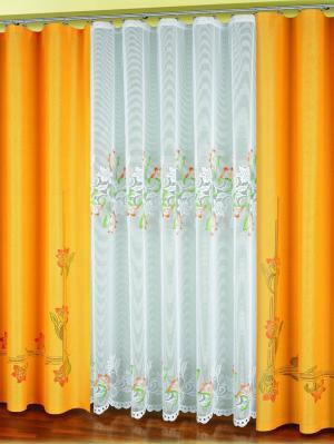 Шторы Haft. Цвет: белый, зеленый, оранжевый
