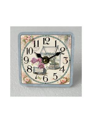 Часы настольные Зимний сад Magic Home. Цвет: бежевый