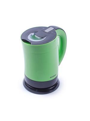Чайник электрический Endever. Цвет: черный,зеленый