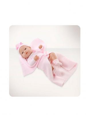 Кукла Arias  пупс с розовым пледом, 42 см Arias.. Цвет: розовый