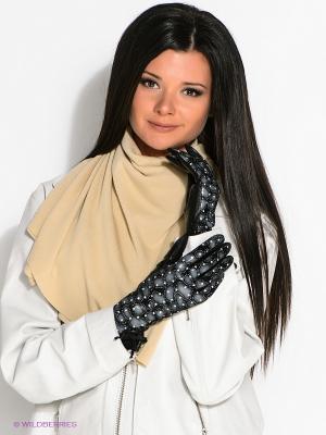 Перчатки Eleganse. Цвет: черный, серый