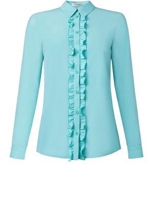 Блуза Ksenia Knyazeva. Цвет: бирюзовый