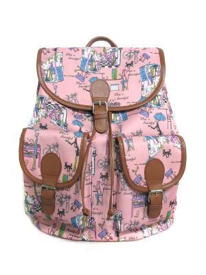 Рюкзак Creative. Цвет: коричневый, розовый