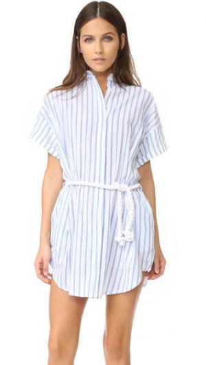 Платье-рубашка Avalon FAITHFULL THE BRAND. Цвет: принт pallais в полоску